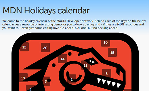 Mozilla Developer Network Advent Calendar